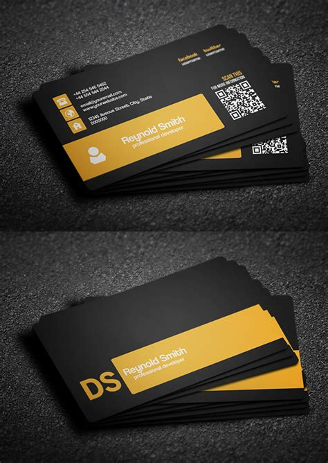 4 Side Free Psd Business Card Templates by 30 Free Business Card Psd Templates Mockups Design