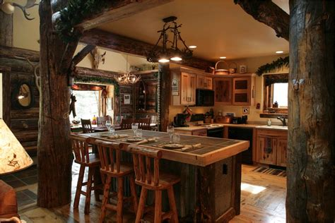 Rustic Cabin Kitchen Decorating Ideas Rustic Kitchen Rustic Kitchen Island Lighting