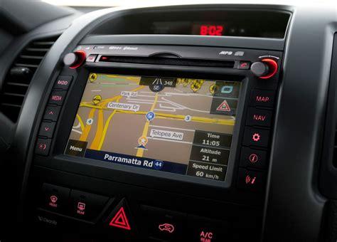 Kia Sorento Navigation Kia Australia Adds Satellite Navigation To Optima Sorento