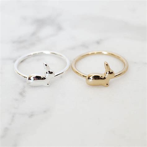 bunny ring by junk jewels notonthehighstreet