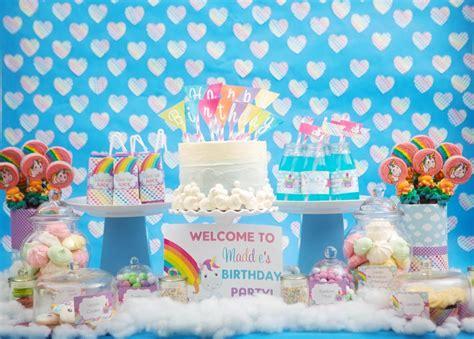 unicorn themed birthday party ideas rainbow unicorn theme party feature