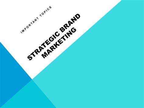 Advertising And Brand Management Notes For Mba Pdf by Strategic Brand Marketing Notes