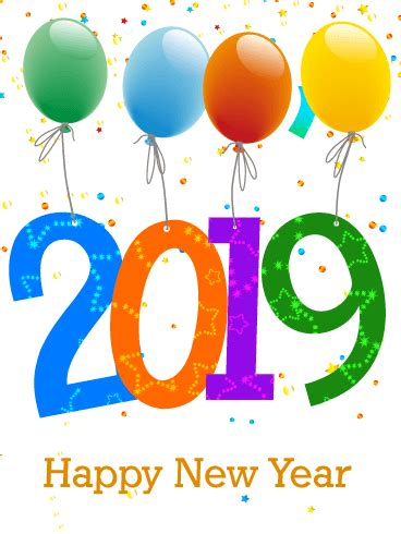 new year in 2019 celebrating new year card 2019 birthday greeting cards