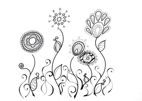 why doodle flowers flower doodle addicted