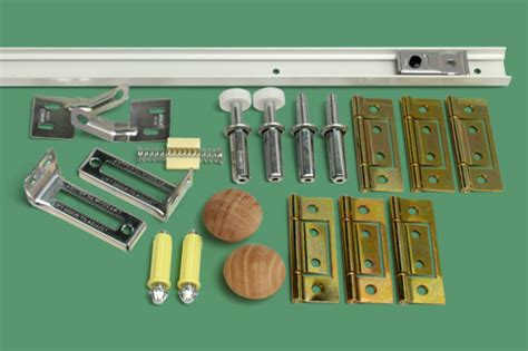 23 507 6 bifold door track and hardware kit 4 panel
