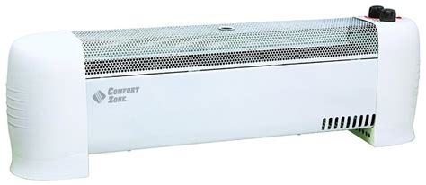 comfort zone baseboard heater comfort zone cz600 convection baseboard silent operation