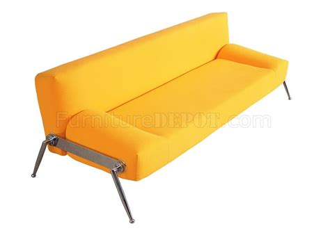 Yellow Sofa Bed by Stylish Sofa Bed In Yellow Fabric Or Black Leatherette