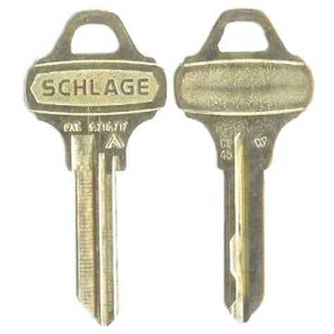 Schlage Nickle Silver House/Office Key 35 009 C145   The