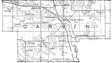 oklahoma section map section township range map oklahoma