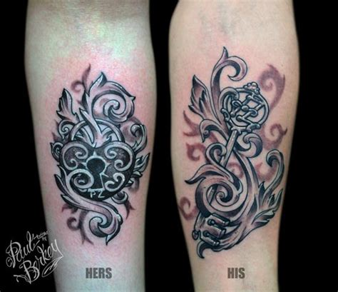 lock and key couples tattoo 10 amazing designs for couples pretty designs