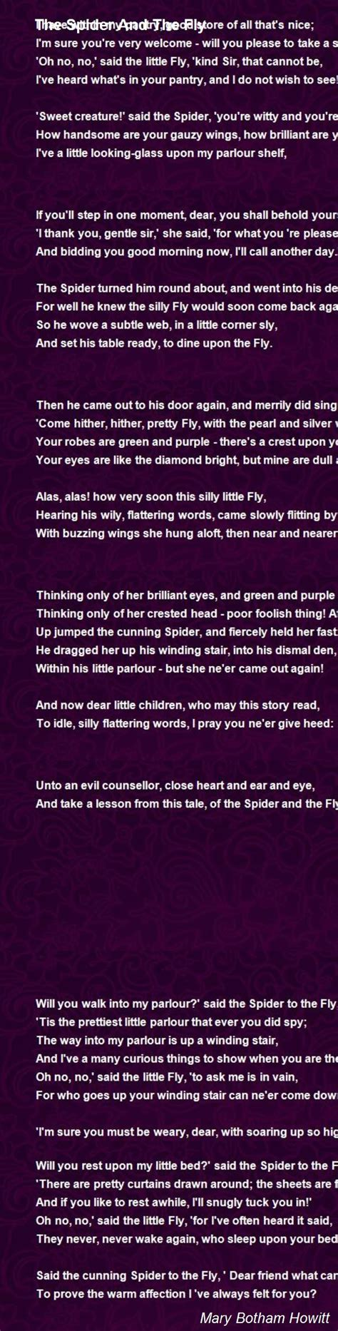 the spider and the fly a writer a murderer and a story of obsession books the spider and the fly poem by botham howitt poem comments