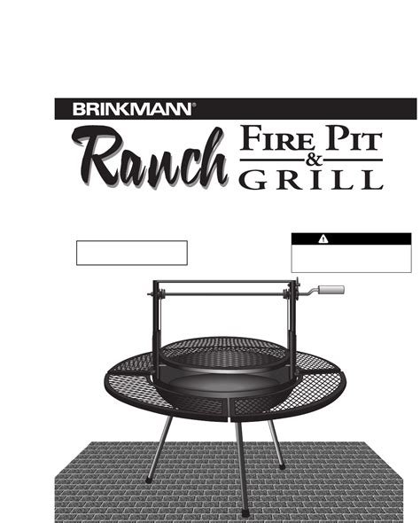 Backyard Grill Owner S Manual Brinkmann Pit Pit Grill User Guide