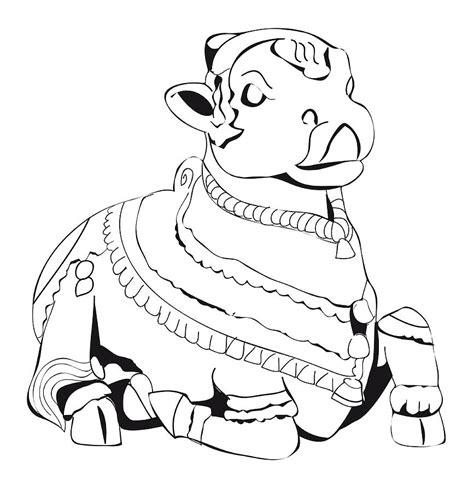 cabins in the woods grayscale coloring book books digital illustration of hindu bull god nandi digital