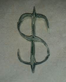 Origami Dollar Sign - dollar sign money origami dollar sign and