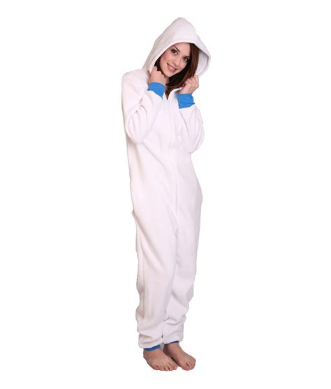 onesie for adults polar unfooted onesie white and warm funzee