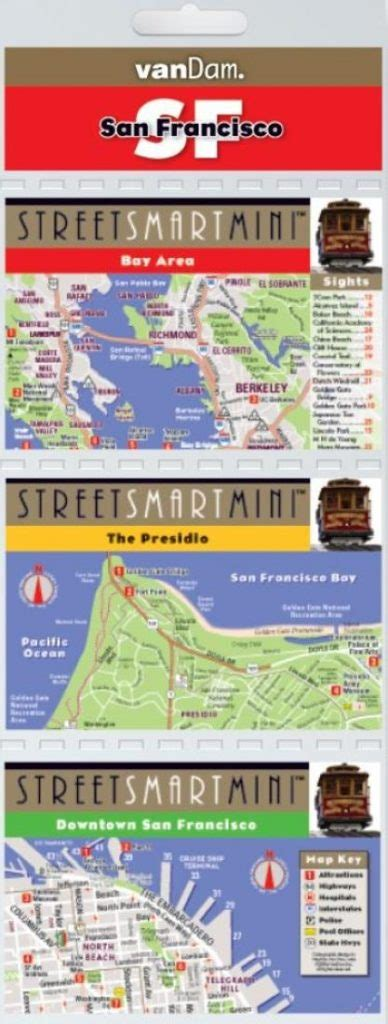 streetsmart sf san francisco map by vandam laminated city pocket map with all attractions museums hotels and bay area transit information bart muni and caltrain 2018 edition map books buy san francisco california streetsmart mini map by vandam