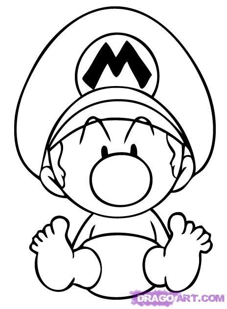baby luigi coloring page how to draw baby mario step by step video game