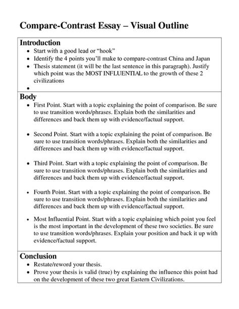 Sle Essay Compare And Contrast by Sle Compare Contrast Essay Middle School 28 Images Compare Contrast Essay Freemanpedia 17