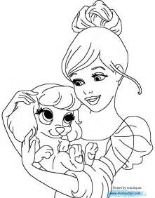 Disney palace pets printable coloring pages disney coloring book