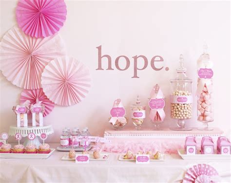 Breast Cancer Awareness Decoration Ideas Breast Cancer Awareness Printables Party Ideas Pizzazzerie
