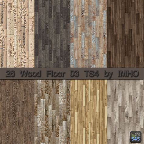 Cc Flooring by 26 Wood Floor 03 Ts4 By Imho At Imho Sims 4 187 Sims 4 Updates