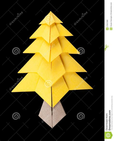 yellow christmas tree black isolated royalty free stock