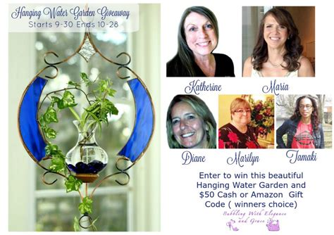 Garden Giveaway - hanging water garden giveaway bubbling with elegance and grace
