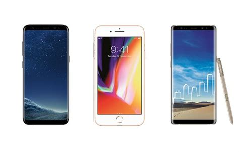 samsung galaxy note 8 vs iphone 8 plus vs samsung galaxy s8 price in india specifications and