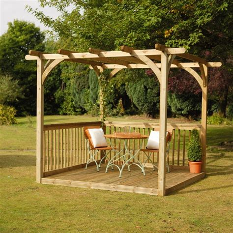 buy pergola kit decking kit with pergola 2 4 x 2 4 m decking kits at