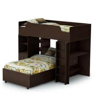 South Shore Bunk Bed South Shore Furniture Logik 4 Pieces Loft Bed In Chocolate 3359a4 The Home Depot