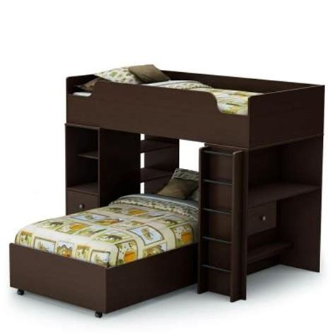 south shore loft bed south shore furniture logik 4 pieces twin loft bed in
