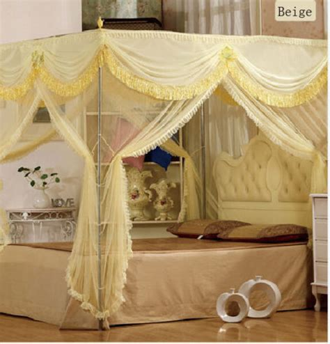 luxury canopy bed curtains luxury 4 post bed curtain canopy mosquito net cal king