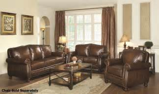 Brown Leather Sofa Sets Coaster Montbrook 503981 503982 Brown Leather Sofa And Loveseat Set A Sofa Furniture