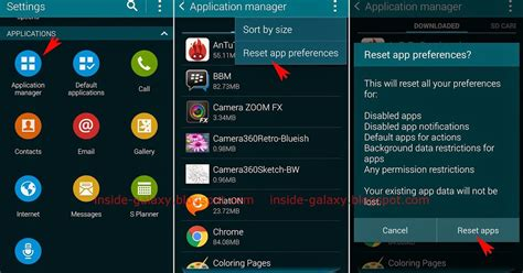 reset android 4 4 2 samsung galaxy s5 how to reset app preferences in android