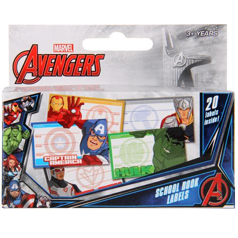 Label Book Avenger buy school book labels at mighty ape nz