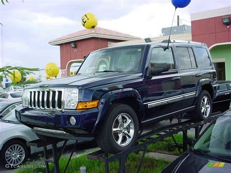 midnight blue jeep 2006 midnight blue pearl jeep commander limited 17197015