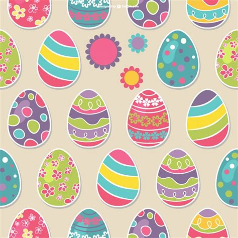easter pattern easter eggs seamless pattern vector free download