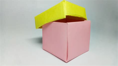 How To Make A Paper Box That Opens - how to make a paper box paper box easy origami paper