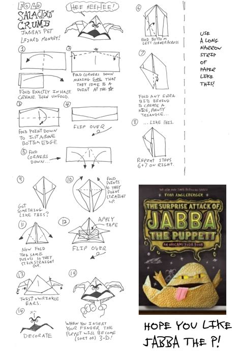 How To Fold Origami Yoda By Tom Angleberger - how to fold origami yoda