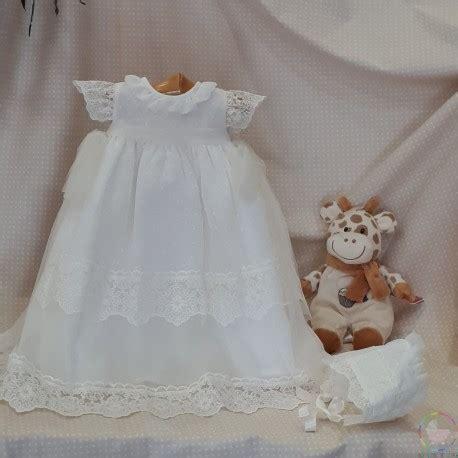 vestido de bautizo plumeti  encajes casabebe
