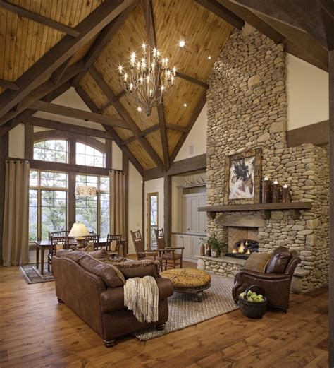 Rustic Rooms by 46 Stunning Rustic Living Room Design Ideas