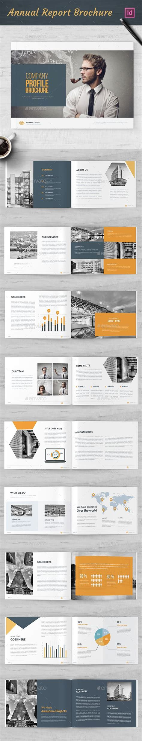 Https Graphicriver Net Item Divided Annual Report Template 13185075 569 Best Work Design Images On