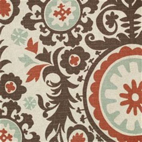 asian upholstery fabric prints asian inspired suzani print red teal brown upholstery fabric