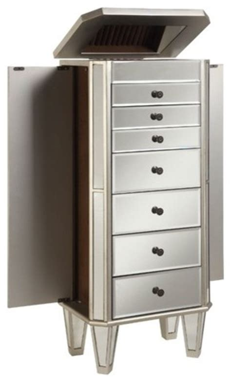 Jewelry Armoire Modern by Mirrored Jewelry Armoire Modern Jewelry Armoires
