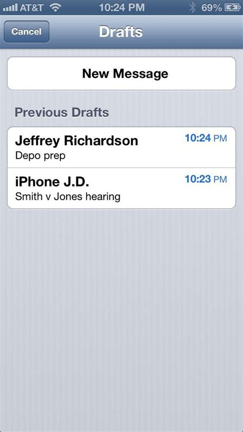 Iphone J D Iphone Tip Save Draft Of Email Iphone J D