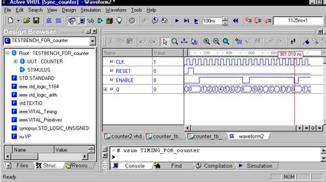 vhdl test bench tutorial active vhdl test bench tutorial