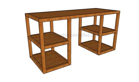 desk design plans desk woodworking plans howtospecialist how to build step by step diy plans