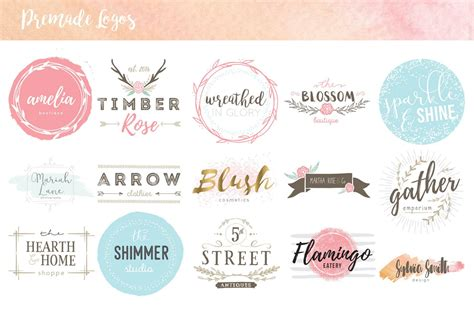 design kit hand drawn logo design kit avalon rose design