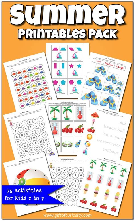 printable games for summer summer printables pack worksheets graphics and activities