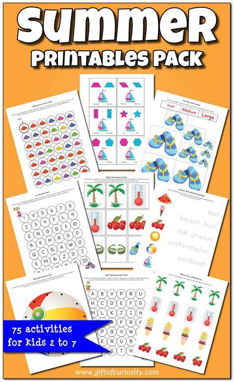 kindergarten activities summer summer printables pack worksheets graphics and activities